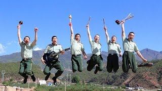 From combat to canvas: Chinese soldiers show a passion for art