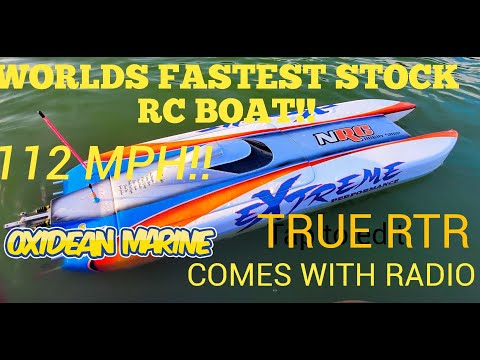 WORLDS FASTEST RC BOAT IN STOCK FORM! OXIDEAN MARINE ANIMAL TWIN CAT!!!