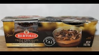 Bertolli Triple Chocolate Strata Cake Review