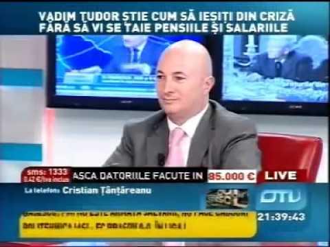 Vadim Tudor Se Injura Cu Cristian Tantareanu, La OTV   Part 1of2