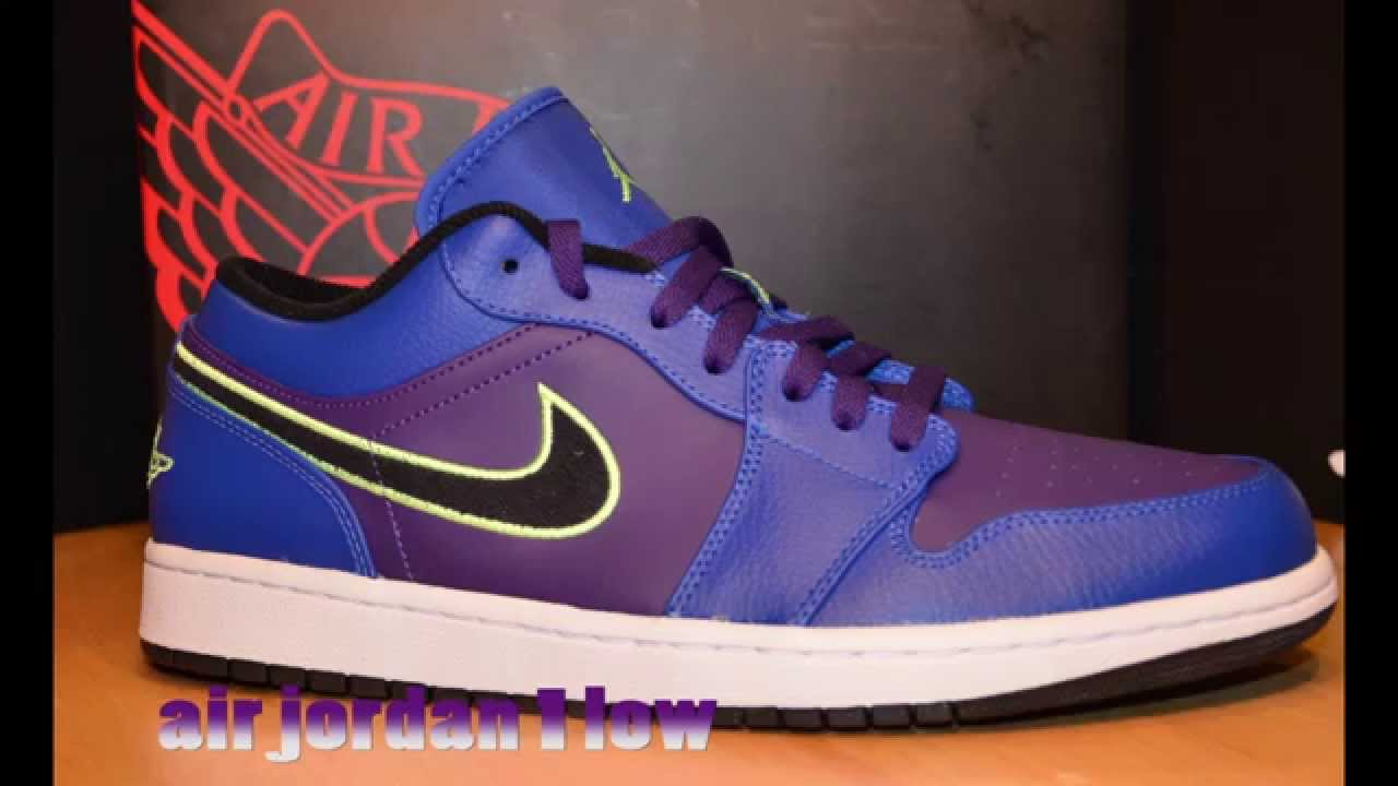 ... reduced air jordan 1 low up close game royal court purple lime youtube  21846 71616 410c6a774