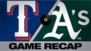 Santana rocks grand slam, 6 RBIs in 11-3 win | Rangers-A's Game Highlights 7/25/19