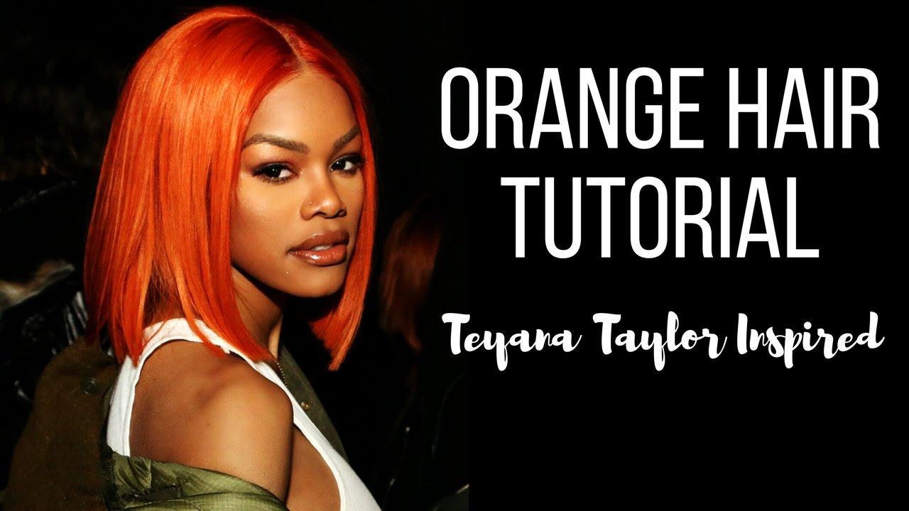Teyana Taylor Inspired Orange Hair  YouTube