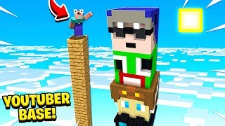 NOOB CLIMBS *WORLDS* TALLEST YOUTUBER BASE!