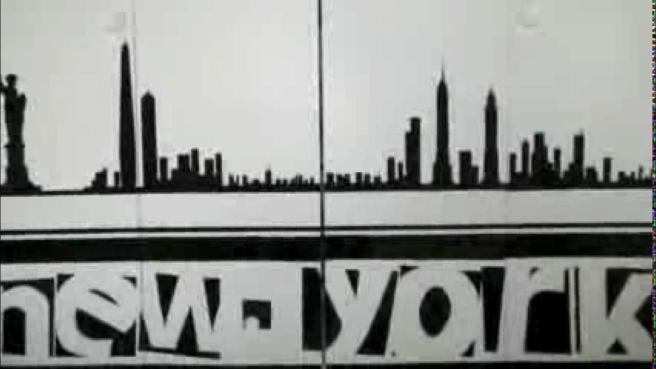 new york skyline peinture youtube. Black Bedroom Furniture Sets. Home Design Ideas