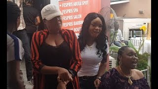 See how Toyin Aimakhu welcomes Sikiratu Sindodo at Iyabo Ojos party as she shows off her moves