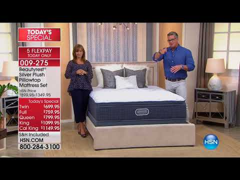 HSN | HSN Today: Beautyrest Mattresses / Concierge Collection Bedding 09.04.2017 - 08 AM