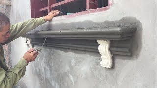 Excellent Technical Construction Window Foot With Reinforced Concrete And Cement & Sand Ornament