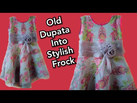 How To Use Old Dupata To Make Up Down Frock In Easy Method.