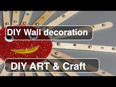 Diy Wall Craft - Wall Decoration Ideas | Diy Wall Hanging | Popsicle Wall Hanging Craft Ideas