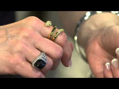 The Elizabeth Taylor Simulated Diamond Snake Ring with Mary Beth Roe