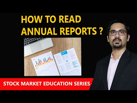 How To Read Annual Reports ?