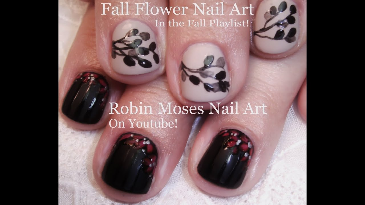 diy easy fall nails 2 easy autumn short nail art design tutorial