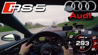 Audi RS5 2.9 V6 Bi-Turbo pushing on German Autobahn ✔