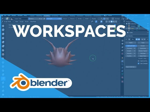 Workspaces - Blender 2.80 Fundamentals