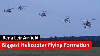 Biggest Helicopter Flying Formation @ Rena Leir Airfield