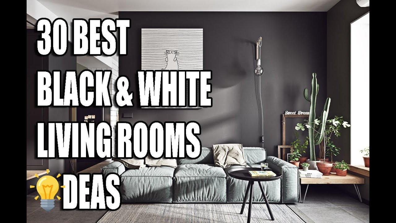 30 Best Black White Living Rooms Ideas Youtube