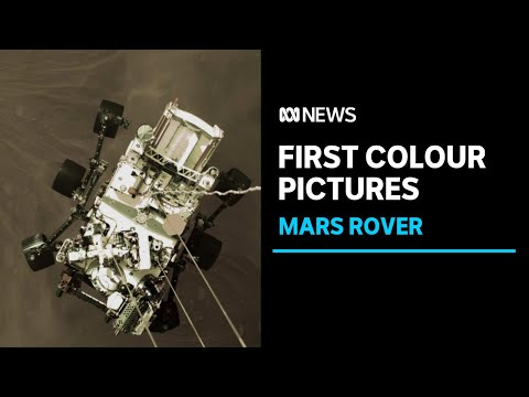 NASA releases the first colour photographs of its Perseverance rover landing on Mars | ABC News