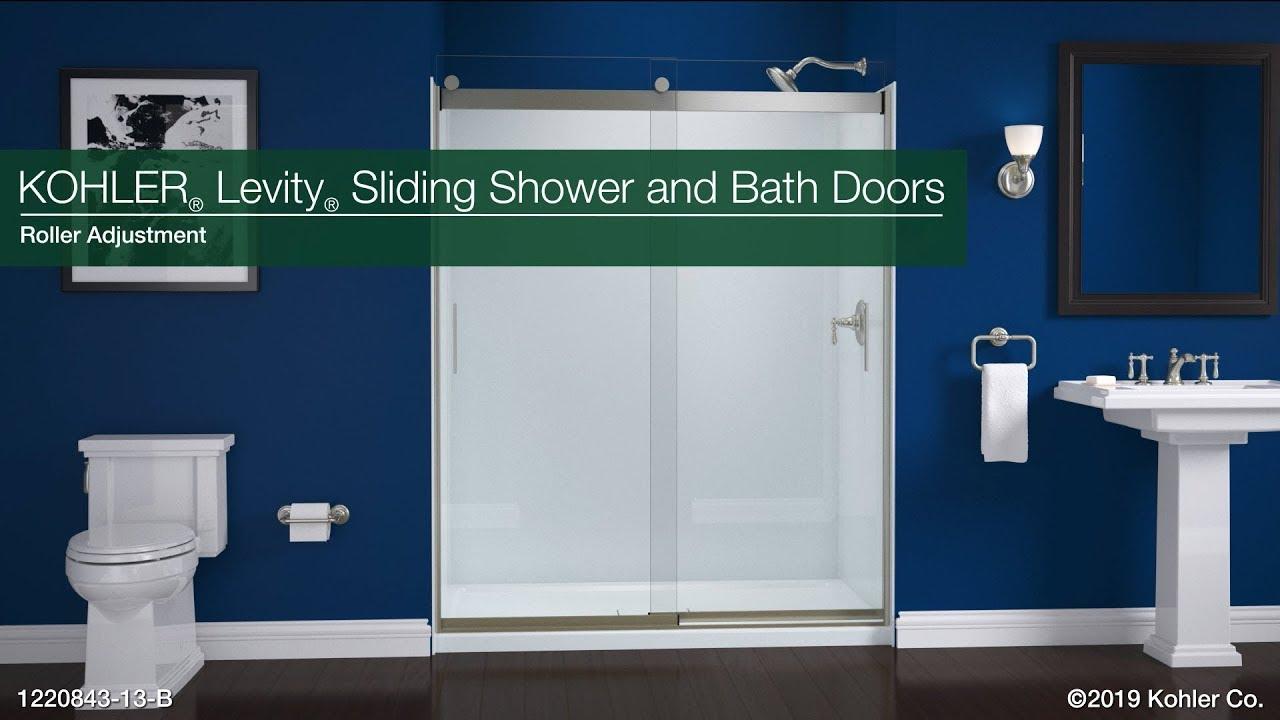 Roller Adjustment Levity Sliding Bath And Shower Doors