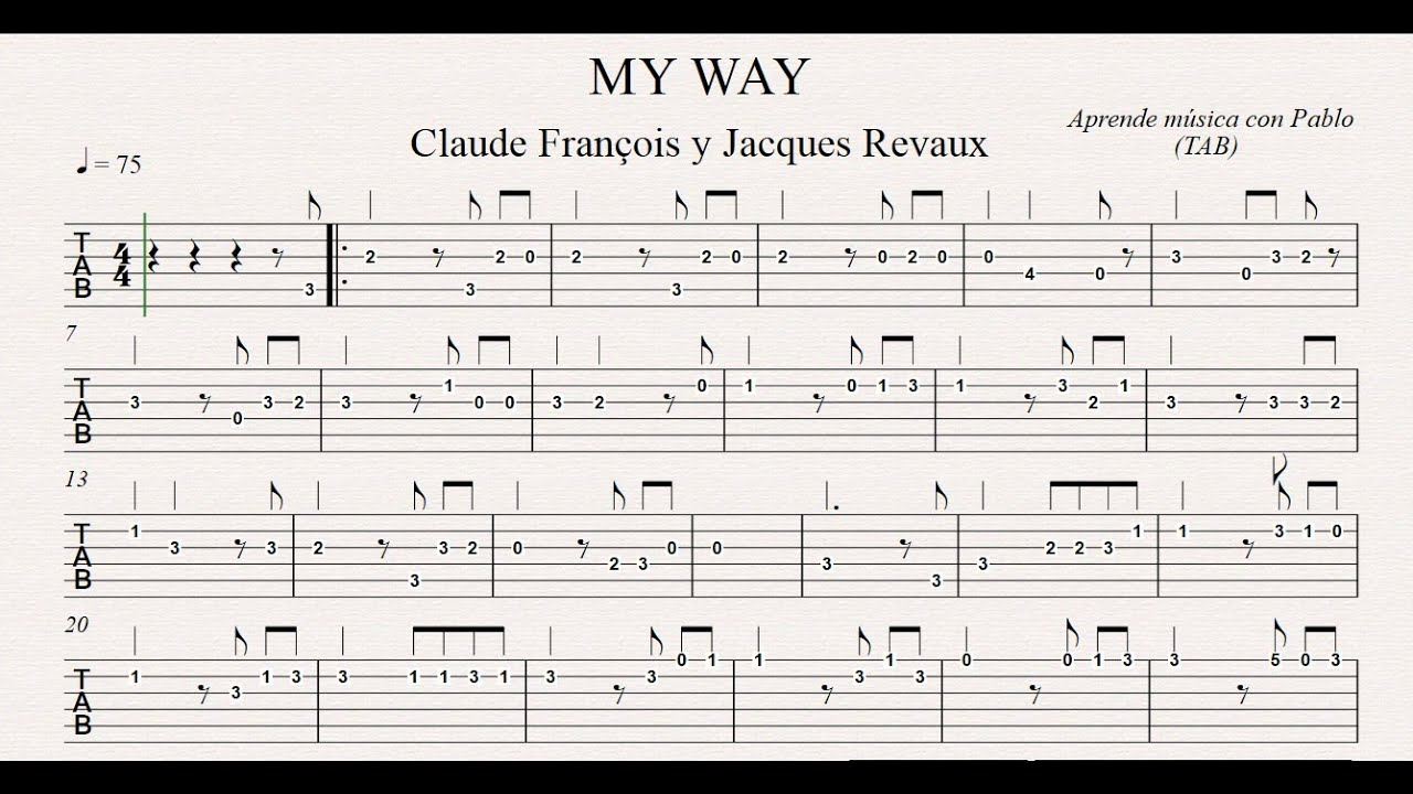 how to play on my way on guitar