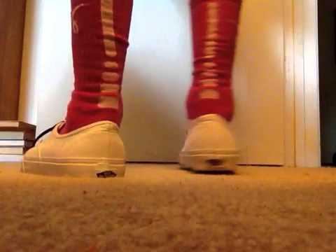 new style 7807d 249a7 Breast cancer nike elite socks pink white with vans on feet - YouTube