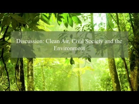 Discussion: Clean Air, Civil Society and the Environment