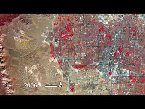 Las Vegas Population Growth Time Lapse