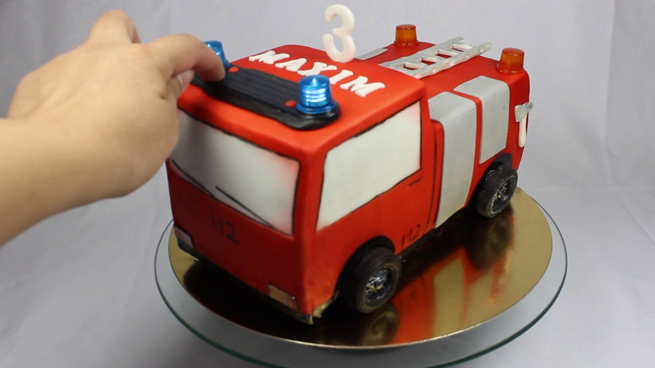 Feuerwehrauto Torte Youtube