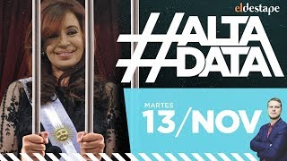 Cristina Presidenta o presa | #AltaData Todo lo que pasa en un toque. Emisión del 13/11/18