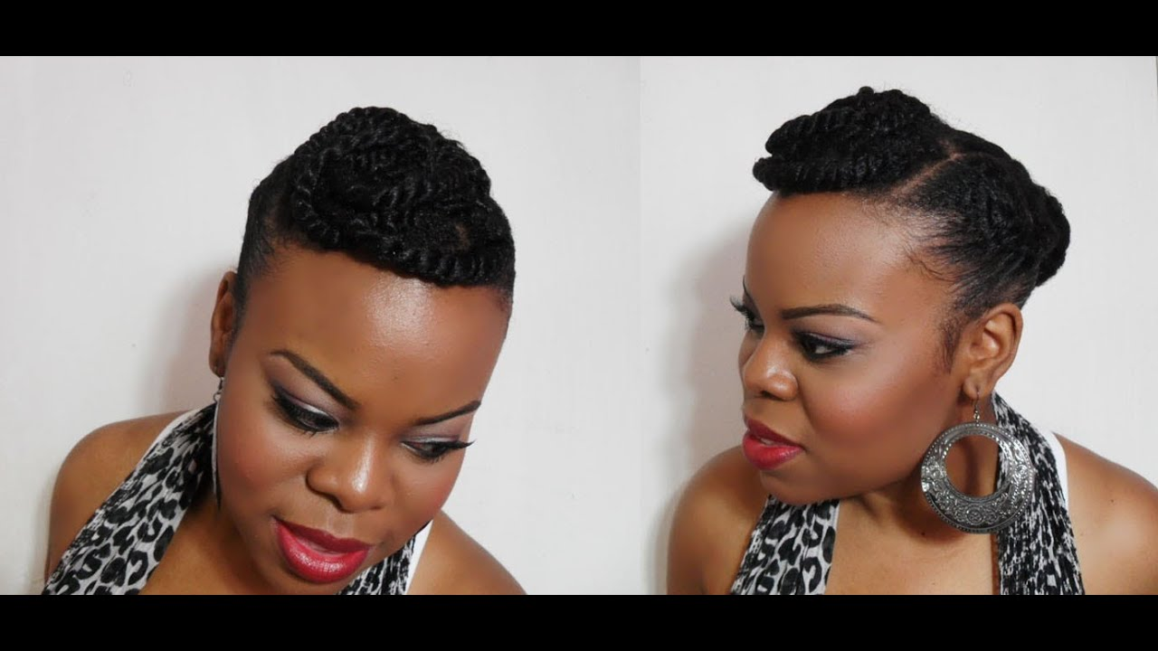 naturals hair styles twisted bangs hair amp makeup tutorial 6127