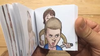 'Stranger Things' Handdrawn Flipbook Animation