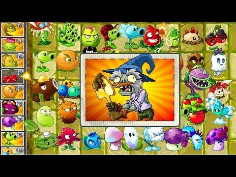 Plants vs Zombies 2 Walkthrough Every Plant Power-Up! vs Excavator Zombie PVZ 2 Mod Primal Gameplay