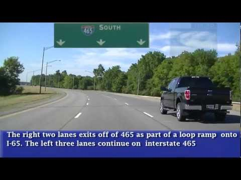 Driving I-465 Complete Loop around Indianapolis, Indiana