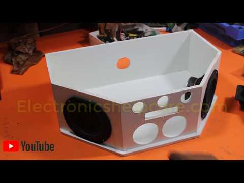 How to Make Sound Box? how to make sound box using plastic wood? making sound box, electronics