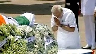 president apj abdul kalam s body brought to delhi president pm pay tributes