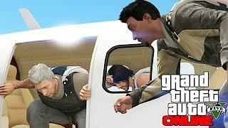 гРУППОВОЙ ПРЫЖОК С ПАРАШЮТАМИ !!!  GTA V ONLINE #188