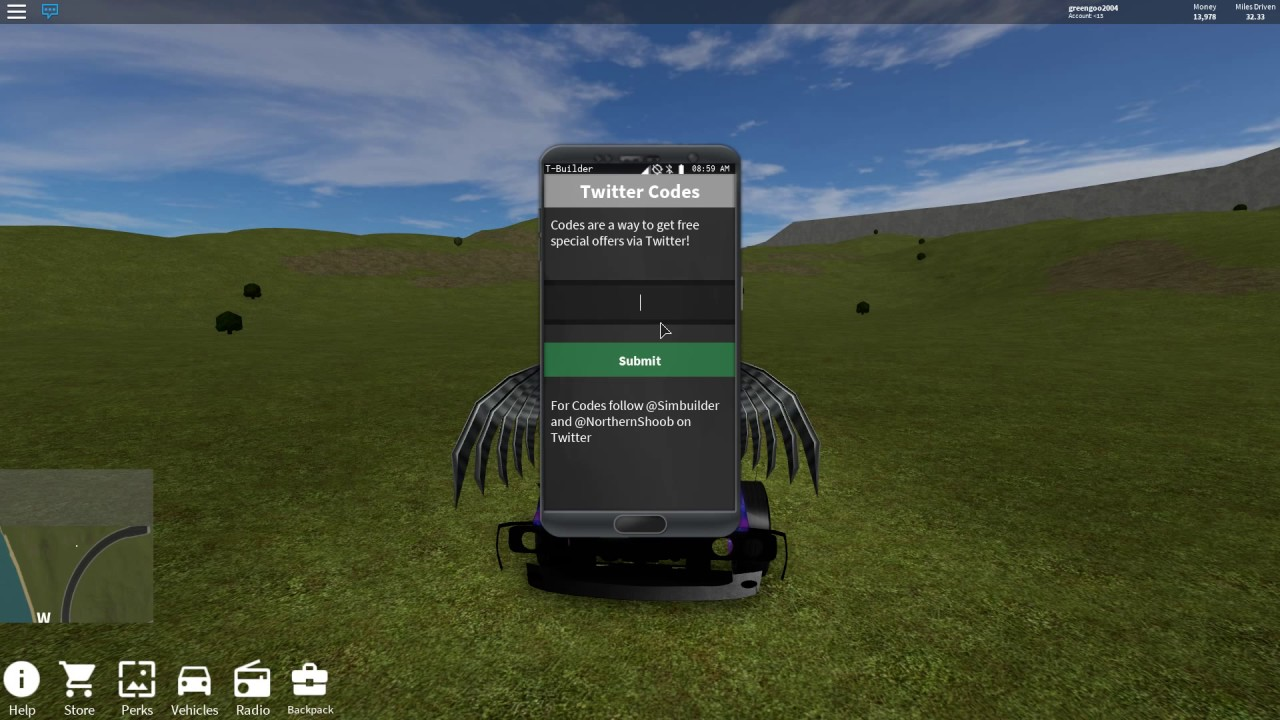 ⚡ Roblox vehicle simulator codes twitter | Vehicle