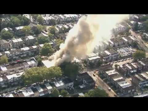 Fire burns at church in Philadelphia