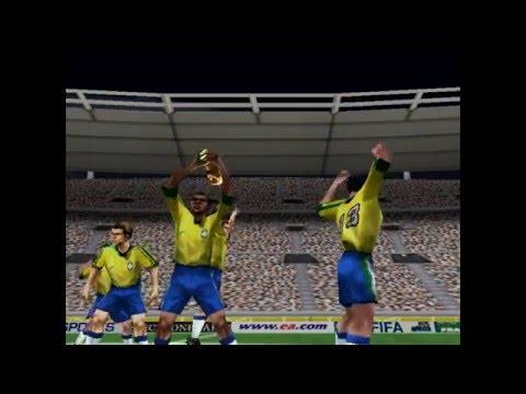 Sony Playstation, PS1 Retro FIFA 98 Road To World Cup Gameplay Brasil Vs Noruega