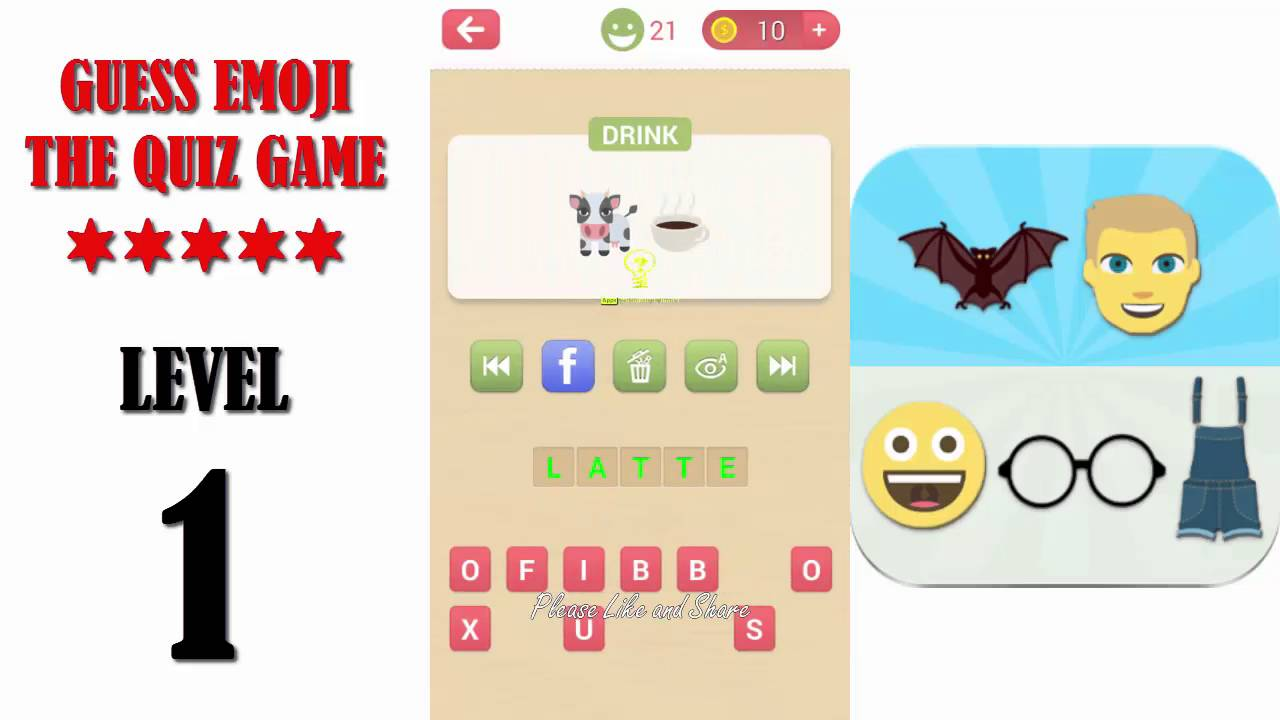 Guess Emoji The Quiz Game Level 1 All Answers Walkthrough