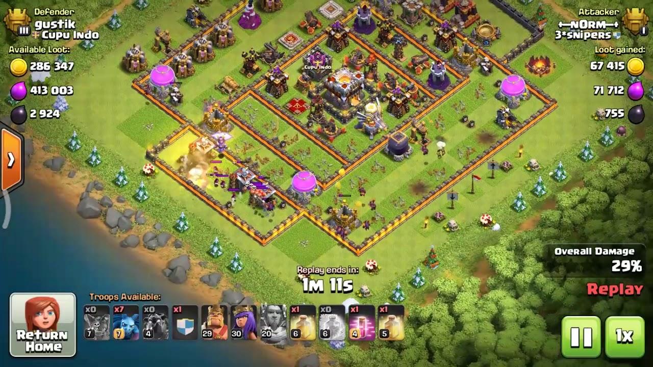clash of clans coc base th 11 paling kuat terkeren anti