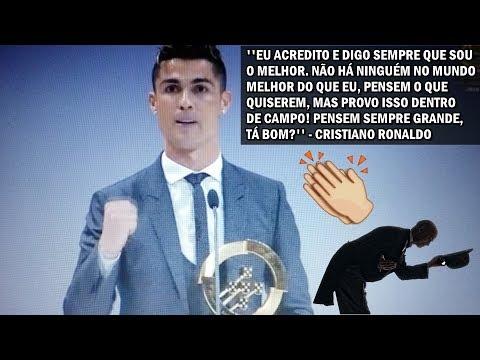Cristiano Ronaldo faz discurso foda no prêmio Quinas de Ouro!