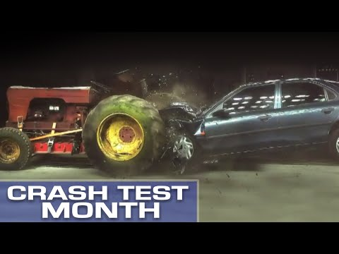 Crash Test Month: Hitting A Tractor