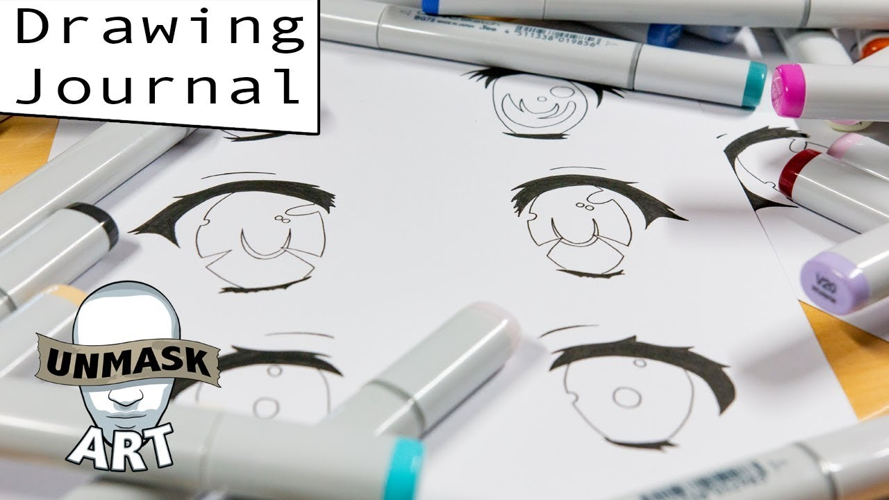 Coloring Anime Eyes W My Wife Drawing Journal Live  Youtube