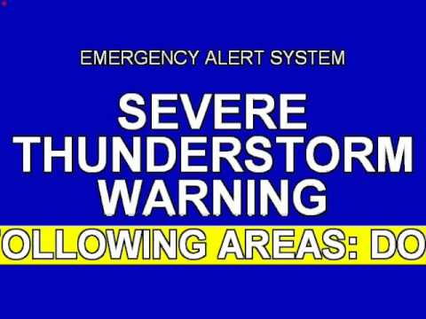 Emergency Alert System - Severe thunderstorm warning in Maryland and