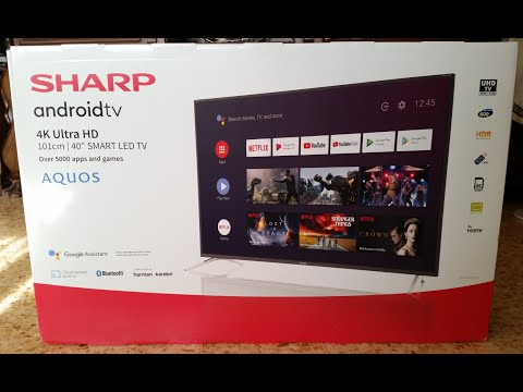 TV Sharp 40BL3EA (Android 9 0 Pie), 4K, año 2020