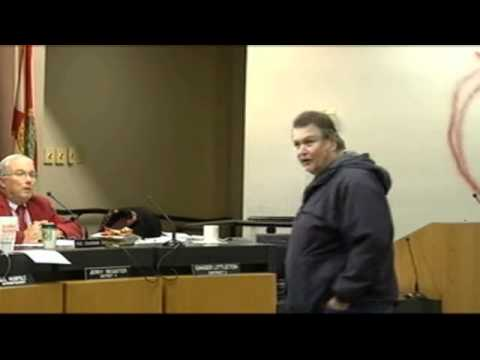 Florida School Board Meeting Shooting - Angle 2 - WJHG Video Clips - December 14, 2010