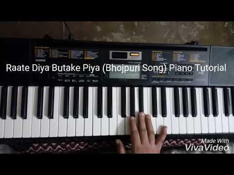 Raate Diya Butake Piya Kya Kya Kiya Piano Tutorial