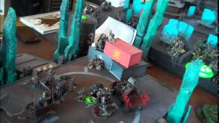 Iron Hands vs Orks- Blue Table Painting