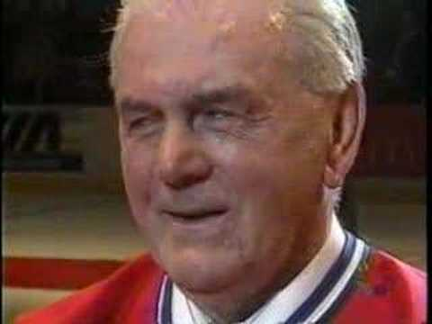Last game at the Montreal Forum - Maurice Rocket Richard ovation